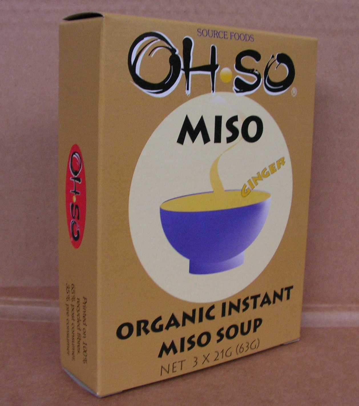 Ohso Organic Ginger Miso Soup new